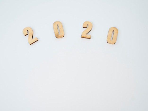 Symbole du numéro 2020. nouvel an festif