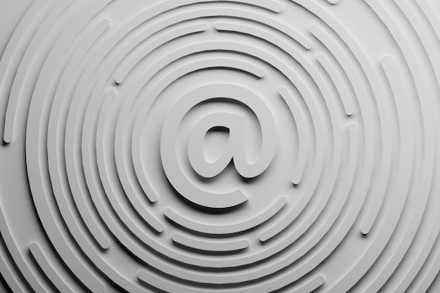 Symbole d'email. correspondance de messagerie