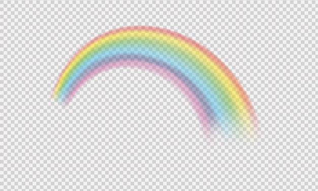 Symbole de fantaisie arc-en-ciel coloré isolé