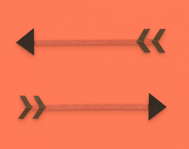 Symbole de flèche direction tir à l'arc