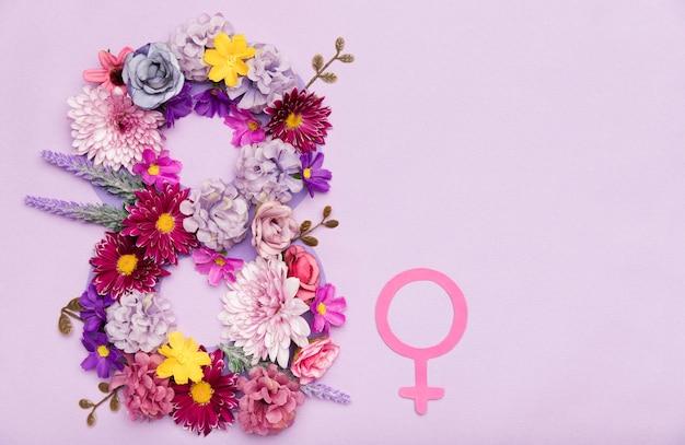 Symbole de fleur de jour de la femme