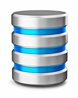 Symbole d'icône de base de données de stockage de données de disque dur