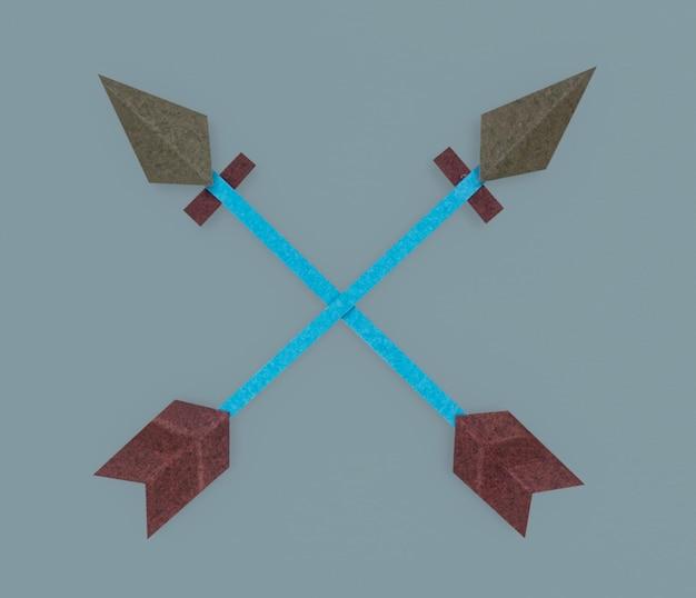 Symbole d'icône flèche direction tir à l'arc