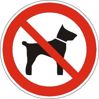Symbole interdit autorisé chiens signe interdites