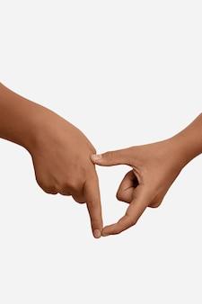 Symbole de la langue des signes isolé sur blanc