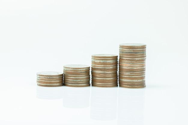 Symbole de marge de pièce de monnaie sur fond blanc
