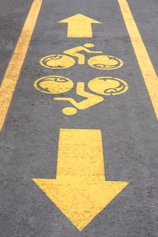 Symbole de piste cyclable