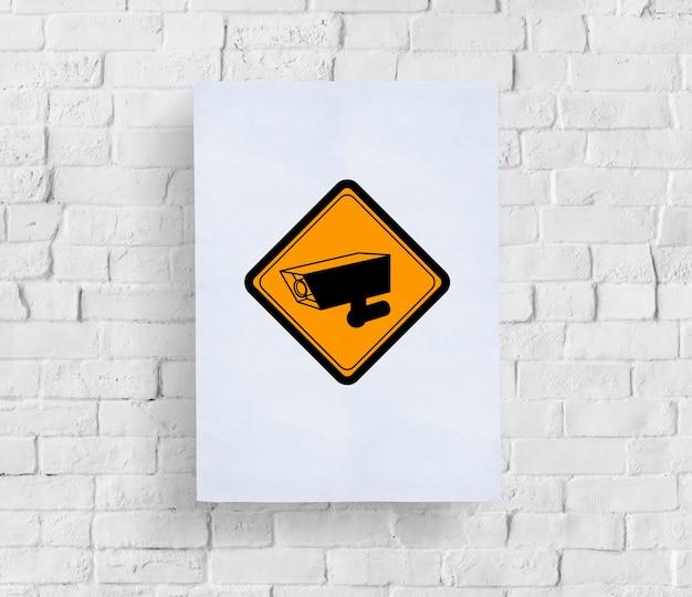 Symbole de signe d'enregistrement de caméra cctv