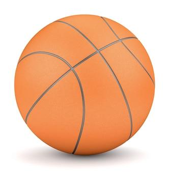 Symbole de sport et de remise en forme. rendu de basket orange simple isolé sur fond blanc