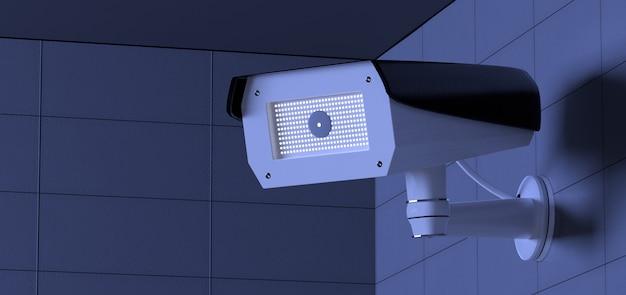 Système de caméra de vidéosurveillance de sécurité - rendu 3d