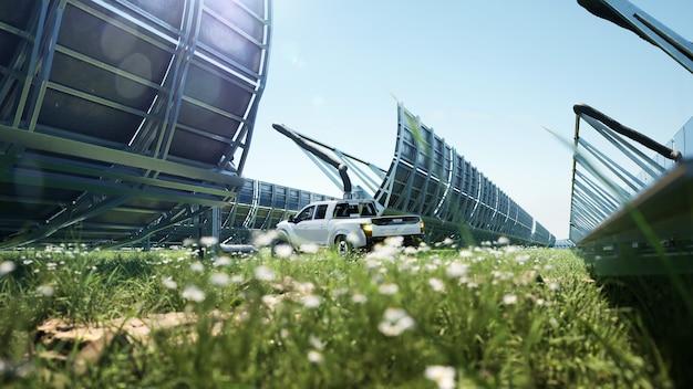 Système de chauffage solaire de l'eau dans l'énergie renouvelable écologique de lumière du soleil