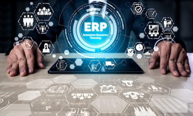 Système erp de gestion des ressources d'entreprise pour le plan de ressources d'entreprise