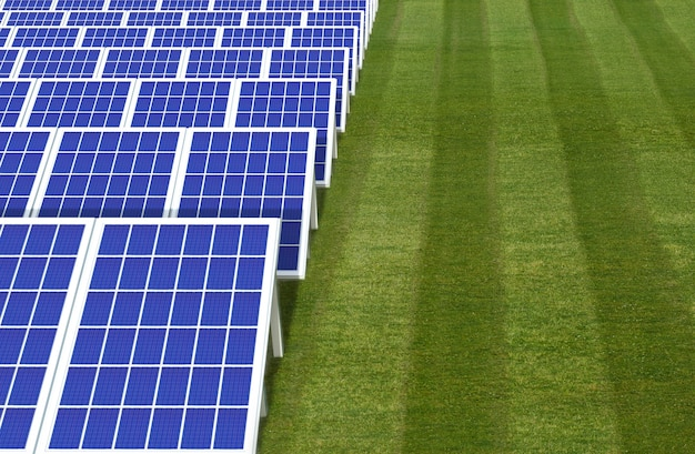 Système de générateur d'énergie électrique, ferme de champs de panneaux de cellules solaires