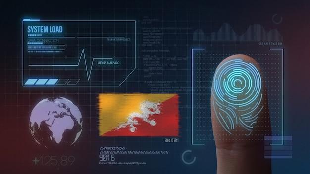 Système d'identification biométrique à balayage d'empreintes digitales. bhoutan nationalité