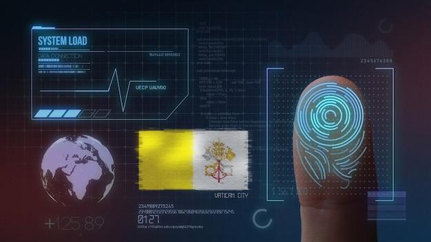 Système d'identification biométrique à balayage d'empreintes digitales. cité du vatican