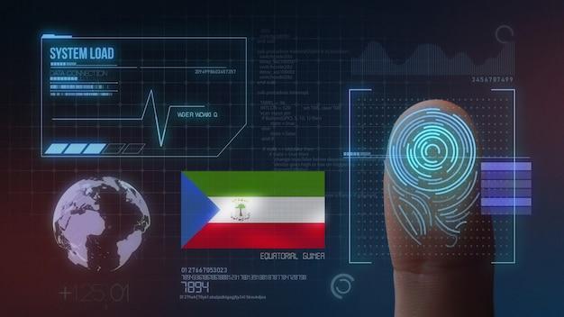 Système d'identification biométrique à balayage d'empreintes digitales. guinée équatoriale nationalité