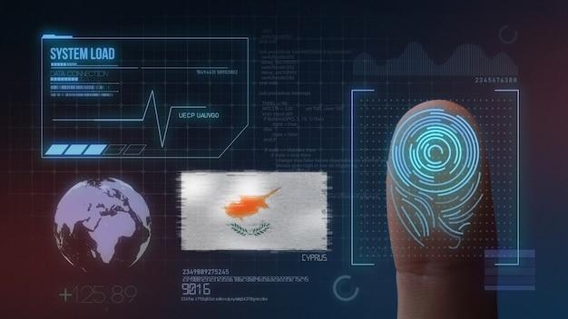 Système d'identification biométrique à balayage d'empreintes digitales. nationalité chypriote