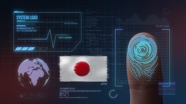 Système d'identification biométrique à balayage d'empreintes digitales. nationalité japonaise