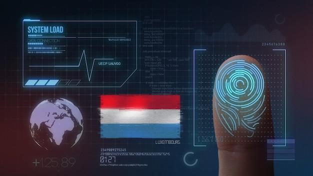 Système d'identification biométrique à balayage d'empreintes digitales. nationalité luxembourgeoise