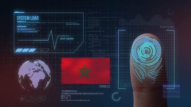 Système d'identification biométrique à balayage d'empreintes digitales. nationalité marocaine