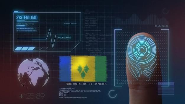 Système d'identification biométrique à balayage d'empreintes digitales. saint-vincent-et-les grenadines nationalité