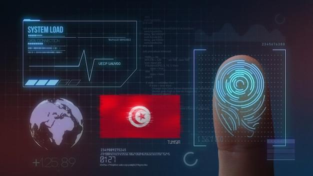 Système d'identification biométrique à balayage d'empreintes digitales. tunisie nationalité