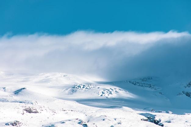 Système de nuages du volcan eyjafjallajökull