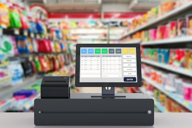 Système de point de vente de rendu 3d pour la gestion de magasin
