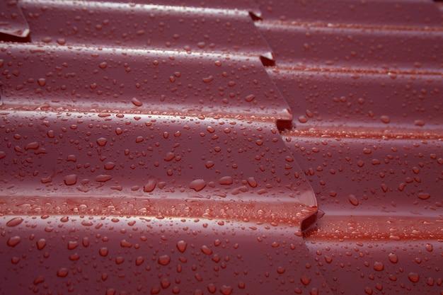 Système de toit en tuiles espagnoles métalliques tôle ondulée en acier peint