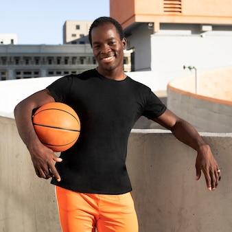 T-shirt noir basique style sportif vêtements de mode pour hommes shoot city