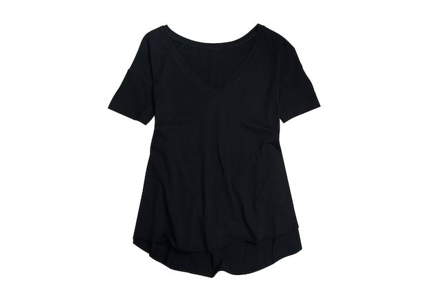 T-shirt noir sur blanc
