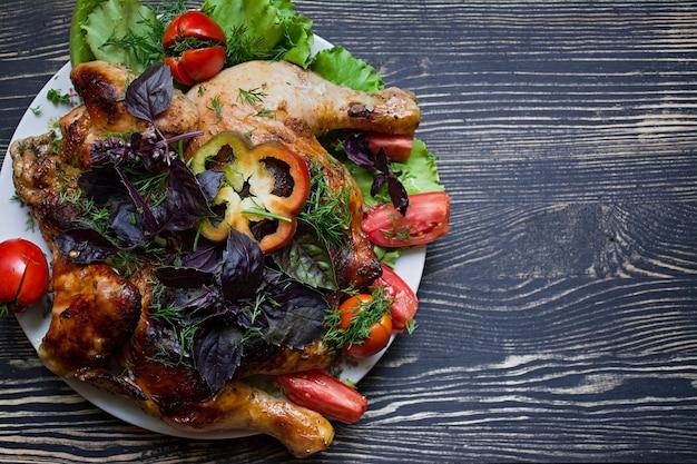 Tabac poulet et légumes frais
