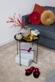 Table basse décorative, décorée pour noël ou thanksgiving