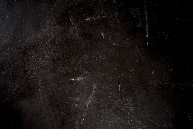 Table en béton de pierre noire