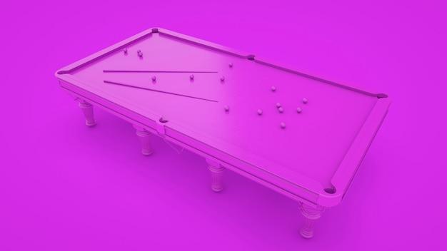 Table de billard isolé sur fond violet