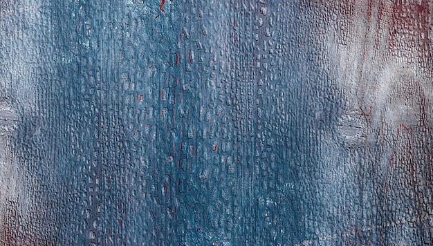 Table en bois bleu avec fissuré