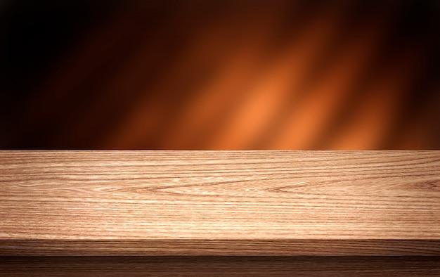 Table en bois pour le montage de produits