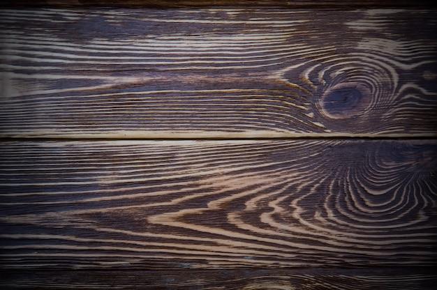 Table en bois sombre vue de dessus plat texture d'arrière-plan