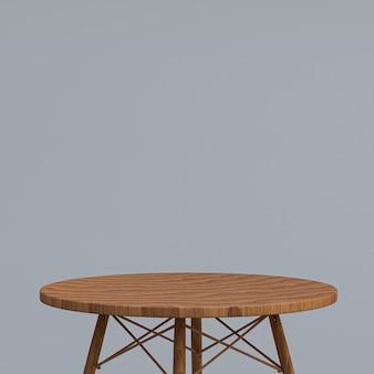 Table en bois ou support de produit pour produit d'affichage sur gris