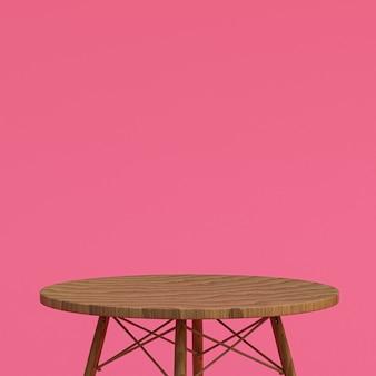 Table en bois ou support de produit pour produit d'affichage sur rose