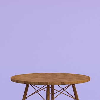 Table en bois ou support de produit pour le produit d'affichage