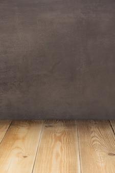 Table en bois vide devant, surface de texture de fond de planche de planche