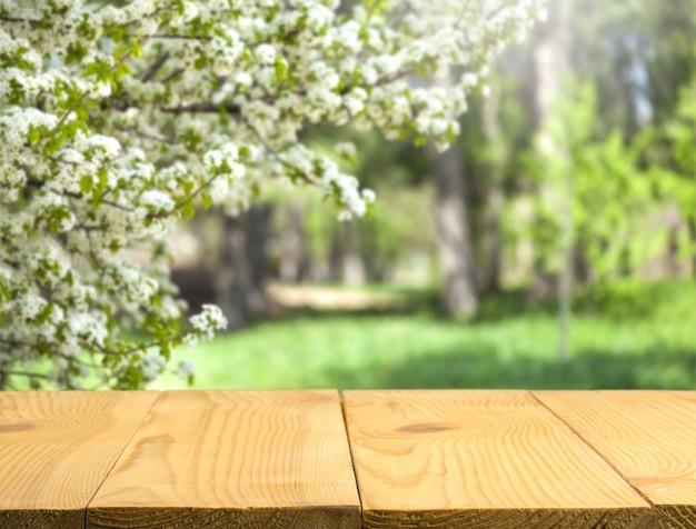 Table en bois vide, planches de bois, arrière-plan