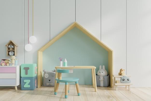 Table et chaise avec décoration enfant