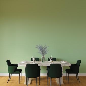 Table et chaises dans la chambre
