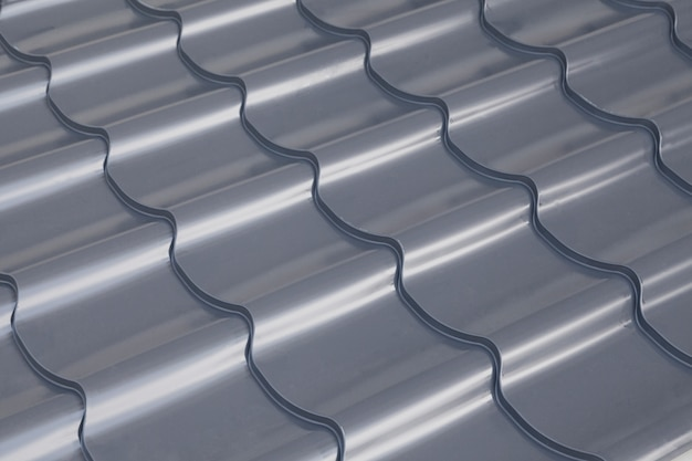 Table couleur toit gris, vue de dessus