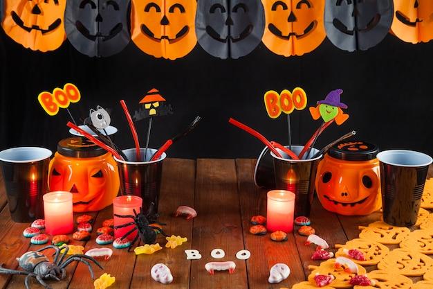 Table de décoration d'halloween