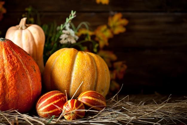 Table décorée de fruits et légumes