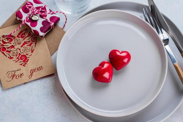 Table de fond de la saint-valentin