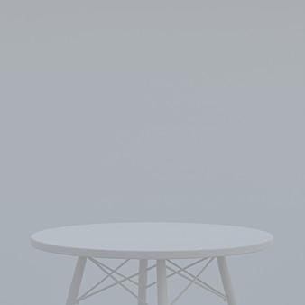Table grise ou support de produit pour afficher le produit sur gris